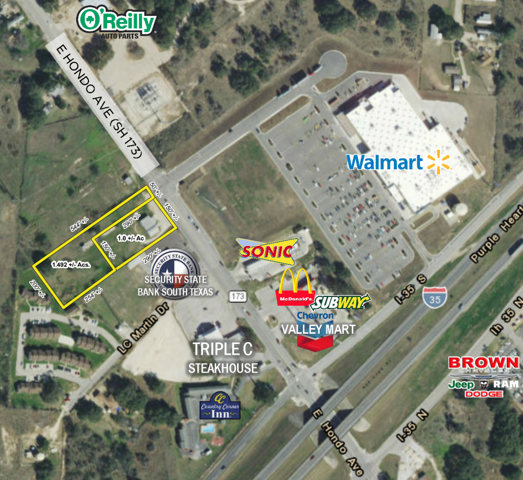 Ac Auto Parts >> 1 to 2.5 AC SITES near I-35, Devine, TX - Sullivan Commercial Realty